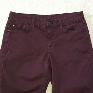 Topshop maroon jeans size 28